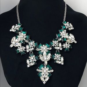 Charter Club Emerald & Clear Crystal Necklace NEW